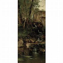 Emilio Sanchez-Perrier Spanish, 1855-1907 A Walk Past the Falls