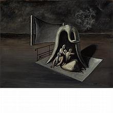 Edgar Ende German, 1901-1965 Im Schutz des Vogels, 1933   Signed E. ENDE and dated 33 (lr) Oil on ca...