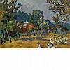 Louis Valtat French, 1869-1952 Les Oies (Le Jardin a Choisel dans la Vallee de Chevreuse), 1926