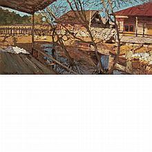 Leonid Viktorovich Turzhanskii Russian, 1875-1945 Farm, Vyska, Russia, 1917