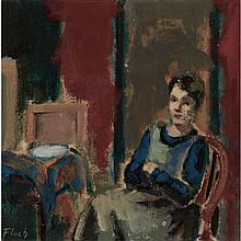 Joseph Floch Austrian, 1895-1977 Woman Seated in an Interior