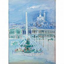 Jean Dufy French, 1888-1964 Place de la Concorde