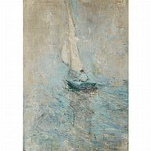 John Henry Twachtman American, 1853-1902 Sailing in the Mist, circa 1895