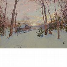 Walter Launt Palmer American, 1854-1932 The Loggers Hut