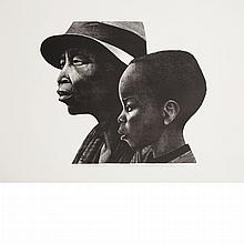 Elizabeth Catlett TWO GENERATIONS Lithograph
