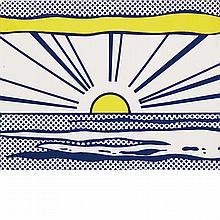 Roy Lichtenstein SUNRISE Baked enamel on metal multiple