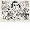 Henri Matisse JEUNE FILLE ACCOUDEE AU PARAVENT FLEURI Lithograph, Henri Matisse, $3,500