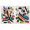 Joan Miro LITHOGRAPHE I Complete deluxe edition portfolio with 13 color lithographs and complete text
