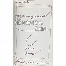 Andy Warhol CAMPBELL'S SOUP CAN (THE PHILOSOPHY OF ANDY WARHOL) Ink on paper, circa 1975, on title page still bound in book