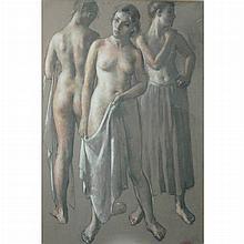 Robert Brackman Russian/American, 1898-1980 (i) An Arrangement (ii) Study of a Head, Semi-Nude Woman and Woman Holding a Jug