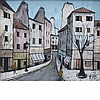 Charles Levier French, 1920-2003 French Street Scene