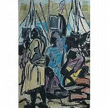 Marion Greenwood American, 1909-1970 Women by a Harbor