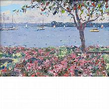 Pierre Bittar French, b. 1934 Harbor Springs on the Lake