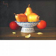 Jean-Claude Chauray French, 1934-1996 Les Trois Feuilles   Signed Chauray (ul); numbered 110528, inscr...