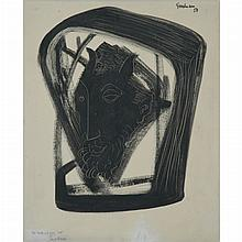 Percival Goodman American, 1904-1989 Untitled (Head of a Saytr), 1958