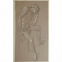 Paul Cadmus American, 1904-1999 Study for Waiting Dancer, 1972