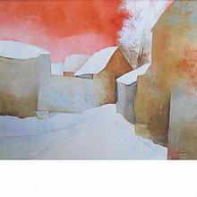 Claude Gaveau French, b. 1940 Neige en Poitou