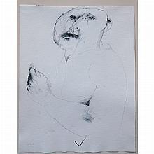 Leonard Baskin American, 1922-2000 (i) Doubting Man, 1964; Together with an Etching of Gericault by Leonard Baskin