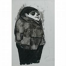 Jose Luis Cuevas Mexican, b. 1934 (i) Nino en la Iglesia, 1953 and (ii) The Dark Alley: Two