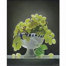 Zhao Guosheng Chinese, b. 1954 Still Life of Grapes in a Footed Bowl, 2013