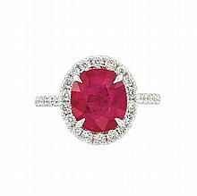 White Gold, Ruby and Diamond Ring, Piranesi