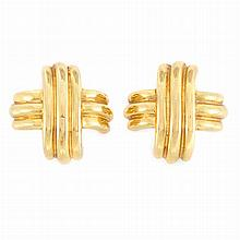 Pair of Gold Earrings, Tiffany & Co.