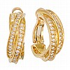 Pair of Gold and Diamond 'Trinity' Hoop Earrings, Cartier, France