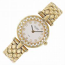 Lady's Gold and Diamond Wristwatch, Van Cleef & Arpels, Paris