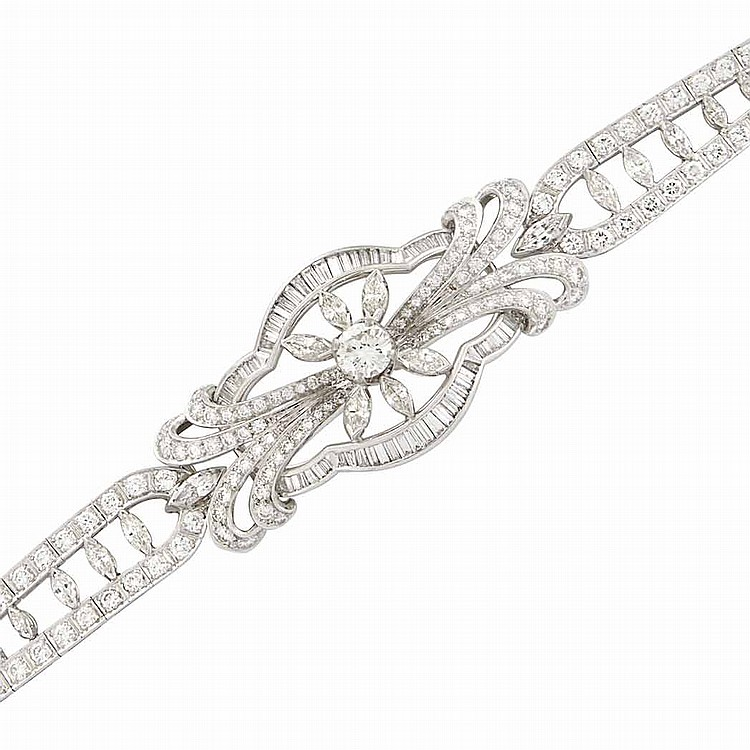 Platinum and Diamond Bracelet