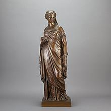 French Bronze Figure of Pandora   After a model by Eugene Aizelin, cast by F. Barbedienne with the A. Collas Reduction Mecan...