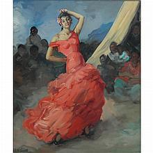 Francisco Rodriguez Sanchez Clement Spanish, 1893-1968 The Flamenco Dancer