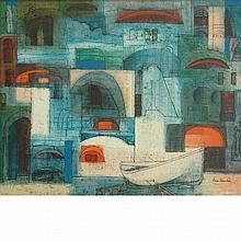 Eva Fischer Croatian, b. 1920 Il Quartiere Della Mezza Luna (The Crescent Ward), 1957