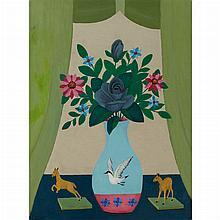 Lawrence Lebduska American, 1894-1966 Still Life with Ceramics