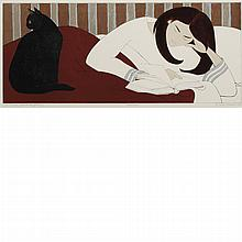 Will Barnet THE READER (ONA WHEN YOUNG) Color lithograph