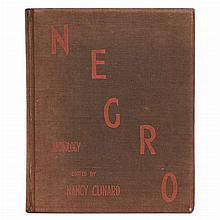 CUNARD, NANCY Negro Anthology, made by Nancy Cunard 1931-1933.  London: 1934. First edition [one of 1000 copies]. Original b...