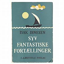 DINESEN, ISAK Syv Fantastiske Fortaellinger [Seven Gothic Tales]. Copenhagen: C.A. Reitzels, [1935]. First edition in Danish...