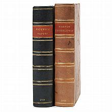 DICKENS, CHARLES Two titles. Comprising The Posthumous Papers of the Pickwick Club. London: Chapman and Hall, 1837. First edition in...
