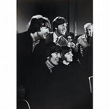 SPENCER, TERRY (1918-2009) [The Beatles being interviewed after receiving controversial Medal of the British Empire (MBE) Award, Lon...