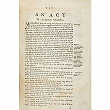 [SOUTH CAROLINA] Run of Acts and Laws, 1783-1815, twenty-nine volumes in 20th century cloth, an non-consecutive but nearly c...