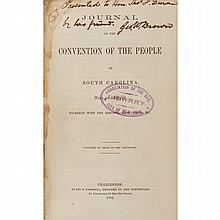 [CIVIL WAR - SOUTH CAROLINA] Group of Confederate era Convention Journals, comprising Journal of the Convention of the Pe...