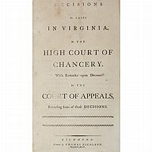 [VIRGINA - IREDELL, JAMES] Decisions of cases in Virginia, by the High Court of Chancery, with remarks upon decrees by the Cour...