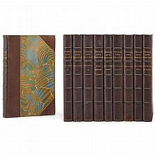 [GOTHIC NOVEL] PEACOCK, THOMAS LOVE [GARNETT, RICHARD-editor] [Works]... London: J. M. Dent, 1891. Ten volumes (all publis...
