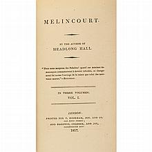 [GOTHIC NOVEL] [PEACOCK, THOMAS LOVE] Melincourt. By the author of Headlong Hall London: T. Hooker and Baldwin, Cradock, 1817. First...