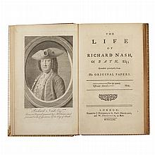 GOLDSMITH, OLIVER The Life of Richard Nash of Bath. London: Newberry, 1762. First edition with B3 and C4 unsigned, incorrect...