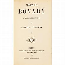 FLAUBERT, GUSTAVE Madame Bovary. Paris: Michel Levy, 1857. First edition in book form, first state with