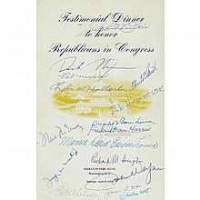 [EISENHOWER, DWIGHT and NIXON, RICHARD] Testimonial Dinner to Honor the Republicans in Congress. Sheraton Park Hotel, Washingto...
