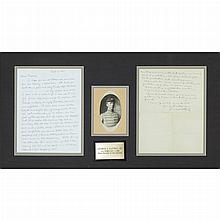 PATTON, GEORGE Early autograph letter signed to his mother. [France:] 2 February, 1918. 1 1/2 page autograph letter in ink s...