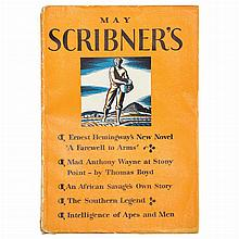 HEMINGWAY, ERNEST A Farewell to Arms [serialized in Scribner's Magazine]. New York: Scribner's, May-October 1929. Six volume...