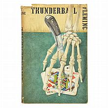 FLEMING, IAN Thunderball. London: Jonathan Cape, [1961]. Uncorrected proof of the first edition. Original wrappers with Cape...