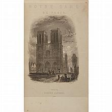 HUGO, VICTOR Notre-Dame de Paris. Paris: Eugene Renduel, 1836. First illustrated edition. Full modern purple morocco gilt. 8...